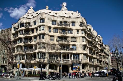 Gaudi building around corner